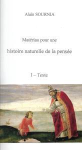 Matériau pour une histoire naturelle de la pensée